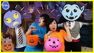 Halloween Trick or Treat Music Video Dance Off Battle Challenge ! Girls Vs. Boys !
