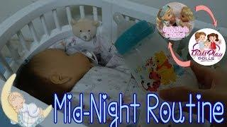 Midnight Feeding & Changing With Reborn Baby Marcus⏰????Collab Video With Girls Play Dolls????