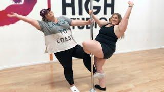 FAT GIRLS TRY POLE DANCING