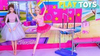 Barbie Girl Ballet Class with Barbie Doll Dance Teacher!
