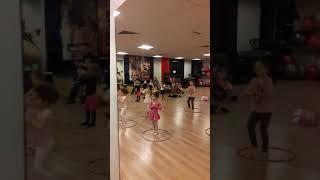Little girls dance practice
