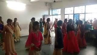 Sunshine public school , girls dance performed ,on teacher day