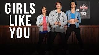 Girls Like You | Dance Fitness Choreography by Vijaya Tupurani | Maroon & Cardi B