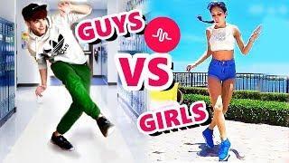 NEW SHUFFLE DANCE MUSICAL.LY CHALLENGE *BOYS VS. GIRLS*  ????????