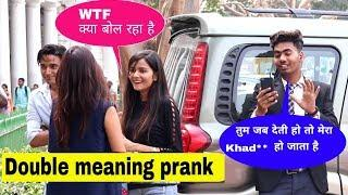 Double Meaning Video Call Prank(On Cute Girls)||Prank In India||Bharti Prank
