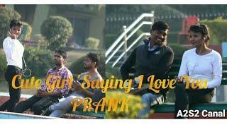 Cute Girl Saying 'I Love You' | Kya Aap Mere Boyfriend Banoge Prank | Prank | A2S2 Canal |
