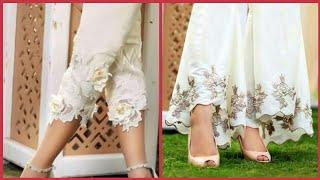 Top Class Embroidered Trousers Designs For Girls - Latest Fashion Trend Video