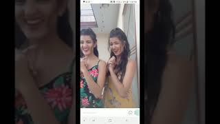 Cute girls dance on home