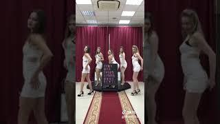 Sexy hot girls dance in white dress