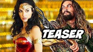 Wonder Woman 2 Teaser New Suit - Aquaman Trailer Comic Con 2018 Explained