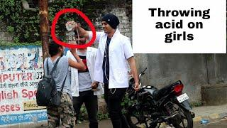 Throwing acid on girls prank video | pranks in India | RKP