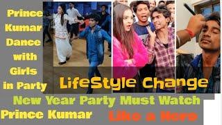 Prince Kumar Dance with girls on new year 2019 party organize by Vigo videos