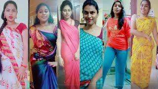 Telugu Girls Dance Chiranjeevi Songs Tiktok Videos | Jai Balaya Chaduvu kondi First Telugu Dj Songs