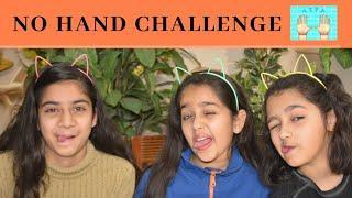 NO HANDS EATING Challenge, Funny Video, kids games, girls games