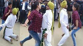 full sexy dance देख कर आपका खड़ा हो जाएगा Girls Dance at Surajkund mela live | big boobs touching