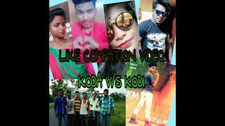 Boy v/s girls add like compation video/Santali koda v/s kodi compation like video