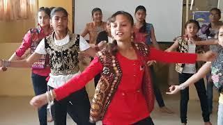 Chogada Dance by Std 7 girls in Krishna School