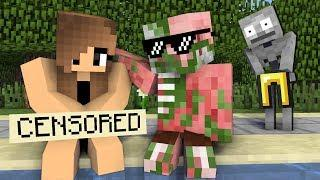 Monster School : GIRLS LOVE SWIMMING CHALLENGE - Minecraft Animation