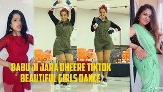 Babu Ji Jara Dheere Chalo   beautiful Girls Dance    TIKTOK Videos / TikTok Treading Videos.