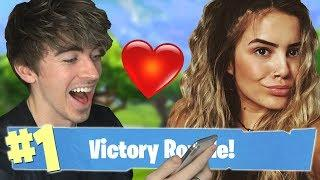 WINNING A FORTNITE GAME FOR A GIRLS NUMBER