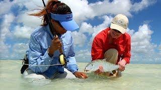 Fly Fishing Bahamas - Women in Fly Fishing  by Todd Moen