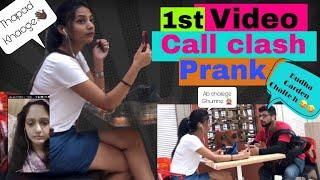 Epic 1st / first video Call Clash Prank on Cute Girls part -3 In India Gone Wrong (funny) rohit koli