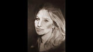 Drawing Barbra Streisand -  Woman In Love