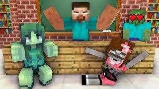 Monster School : GIRLS LOVE ACROBATICS CHALLENGE - Minecraft Animation