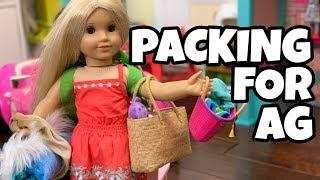 Packing American Girl Doll for a Sleepover