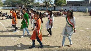 govt sen sec school  Deshbhakti Remix song girls dance GHSS kherabad 26 January 2019