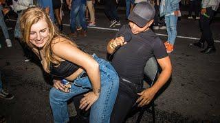 Girls Giving Lap Dances in Public