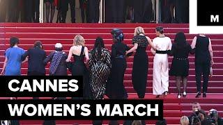 82 Women Walked This Year's Cannes Red Carpet In Protest, Calling For Gender Equality