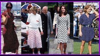 Royal women wearing polka dot outfits | Royal ladies love polka dots!