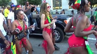WEST INDIAN CARIBBEAN CARNIVAL BROOKLYN 2018 - CARIBBEAN ISLANDS GIRLS DANCE AT CARNIVAL