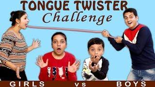 TONGUE TWISTER CHALLENGE | Boys vs Girls #Funny #Bloopers | Family Challenge | Aayu and Pihu Show