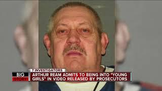 """Arthur Ream admits to being into """"young girls"""" in video released by prosecutors"""