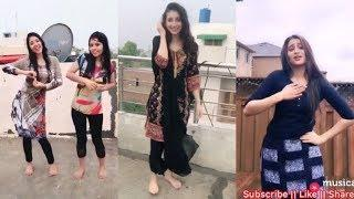 Beautiful Cute Girls Enjoy Rain ☔️ Bollywood Songs Musically Video