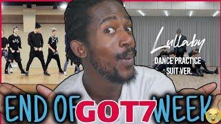 """DANCER REACTS TO GOT7 """"Lullaby"""" Dance Practice (Suit Ver.) 