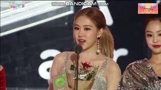 [181201] BLACKPINK WIN BEST DANCE GIRL GROUP @ 2018 Melon Music Awards